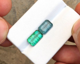 4.70 Ct Natural Blue & Green Transparent Tourmaline Gems Parcels
