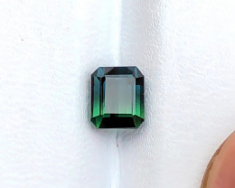 1.55 Ct Natural Dark Bi Color Transparent Tourmaline Gemstone