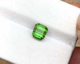 1.70 Ct Natural Green Transparent Tourmaline Gemstone