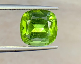 3.84 carat Natural Peridot Gemstone.
