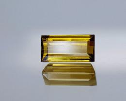 2.11Crt Yellow Tourmaline Rare Color Natural Gemstones JI11