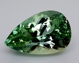 11.45Crt Green Spodumene Natural Gemstones JI11