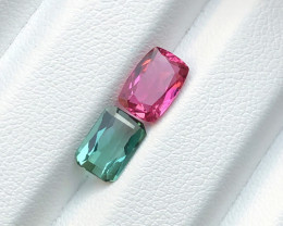2.60 carats Blue and Pink Tourmaline Gemstone Parcels