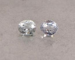 1.55ct Natural unheated white sapphire