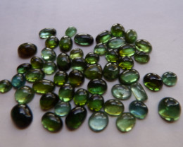 106 carats excellent quality mixed shapes professionally cut  green tourmal