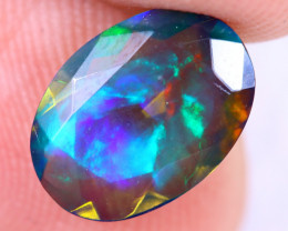 1.24cts Natural Ethiopian Welo Smoked Faceted Opal / MA1476