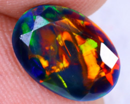 1.24cts Natural Ethiopian Welo Smoked Faceted Opal / MA1478