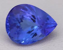 Tanzanite 1.82Ct VVS Natural Pear Master Cut Vivid Blue Tanzanite B2805