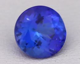 Tanzanite 1.17Ct VVS Natural Round Master Cut Vivid Blue Tanzanite B2806