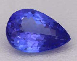 Tanzanite 1.51Ct VVS Natural Pear Master Cut Vivid Blue Tanzanite B2807