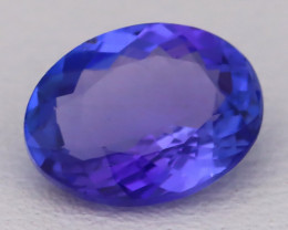 Tanzanite 1.18Ct VVS Natural Oval Master Cut Vivid Blue Tanzanite B2808