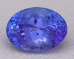 Tanzanite 1.34Ct VVS Natural Oval Master Cut Vivid Blue Tanzanite B2810