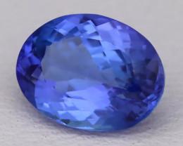 Tanzanite 1.56Ct VVS Natural Oval Master Cut Vivid Blue Tanzanite B2820