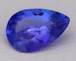 Tanzanite 1.18Ct VVS Natural Pear Master Cut Vivid Blue Tanzanite B2822