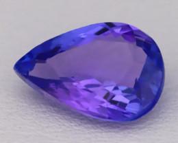 Tanzanite 1.87Ct VVS Natural Pear Master Cut Vivid Blue Tanzanite B2827