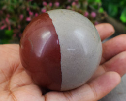 Genuine 771.00 Cts Polygram Jasper Hand Carved Healing Ball