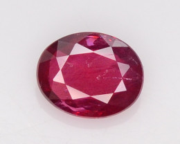 0.57 ct Natural Red Ruby From Mozambique Oval Shape