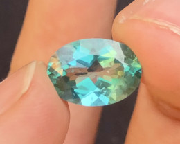7.35 Cts Emerald Green Surface Treated Topaz