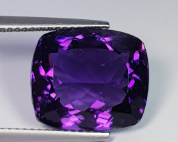 11.05 ct AAA Quality Gem  Awesome Cushion Cut Natural Amethyst