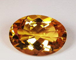 5.40 ct AAA Grade Oval Cut Golden Whisky Color Natural Citrine