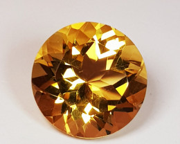 3.38 ct Top Quality Gem Round Cut Top Luster Natural Citrine