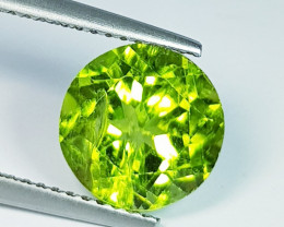 4.00 ct Top Quality Gem Round Cut Top Luster Natural Peridot