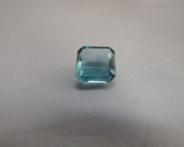 5.15 carats blue fluorite square cut excellent quality gemstone