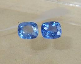 1.74ct unheated blue sapphires