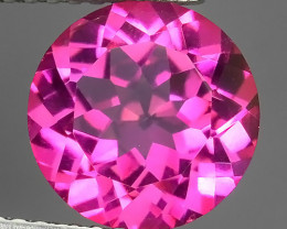 4.15 CTS SUPERIOR! TOP QUALITY 10.07MM ROUND CUT HOT PINK-TOPAZ GENUINE NR