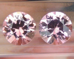 Tourmaline Round Brilliants Pair 6mm Round