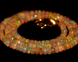 46 Crt Natural Ethiopian Welo Faceted Opal Necklace 242