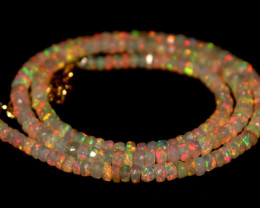 32 Crt Natural Ethiopian Welo Faceted Opal Necklace 245