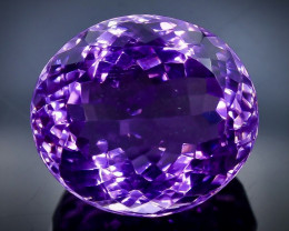 27.84 Crt Natural  Amethyst Faceted Gemstone.( AB 8)