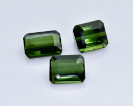 3.13 Crt Natural Tourmaline Faceted Gemstone.( AB 8)