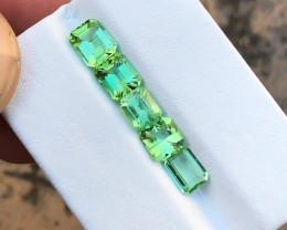 3.70 Ct Natural Green Transparent Tourmaline Gemstones Parcels
