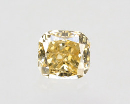 Fantastic!! 0.10 Cts Natural Untreated Diamond Fancy Yellow Radiant  Cut Af