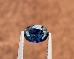 0.8ct Natural Unheated slightly teal blue sapphire