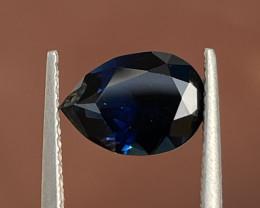 2.25ct Unheated deep blue sapphire