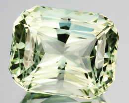 ~CUSTOM CUT~9.19Cts Natural Green Prasiolite / Amethyst Cushion Fancy Bra