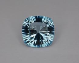 Natural Blue Topaz 7.14 Cts Concave Cut Top Quality