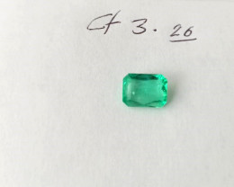 3.26  Princess Cut Colombian Emerald