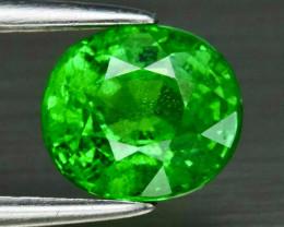 1.23ct UNHEATED  Vivid Green Tsavorite Garnet -Tanzania 6.5 x 5.8mm