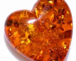 20 Cts Lovers Heart Natural  Amber from Poland  code CCC2871