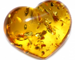 20 Cts Lovers Heart Natural  Amber from Poland  code CCC2872