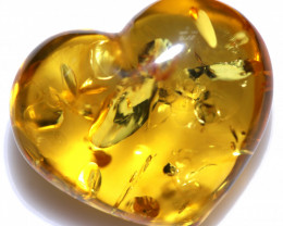 26 Cts Lovers Heart Natural  Amber from Poland  code CCC2874