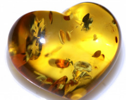 21 Cts Lovers Heart Natural  Amber from Poland  code CCC2876
