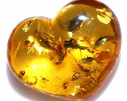 22 Cts Lovers Heart Natural  Amber from Poland  code CCC2878