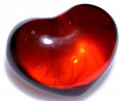 23 Cts Lovers Heart Natural  Amber from Poland  code CCC2886
