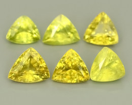 3.20 CTS~EXCELLENT NATURAL-YELLOWISH GREEN SPHENE TRILLON WONDERFUL!!