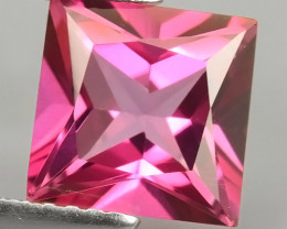 2.60 CTS WONDERFUL COLOR SQARE 8.05MM  PINK TOPAZ